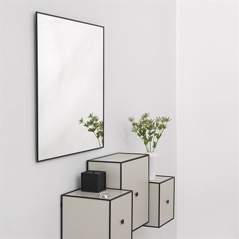 39 by lassen 39 danish mirror elegant thin guage frame. Black Bedroom Furniture Sets. Home Design Ideas