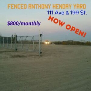 Fenced STORAGE Park on Henday w/ PWR, GATE. 111ave/199St
