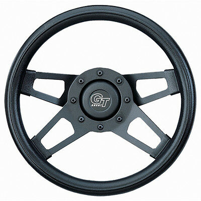 Grant 414 Challenger; Steering Wheel; 13.5 in. Diameter; 3 in. Dish; Black Cushi