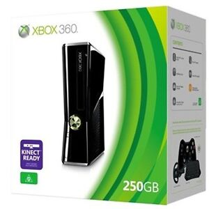 Xbox 360 Slim 250GB + Games and Controllers
