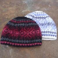 Wool hat Black with pink and red as shown in the picture