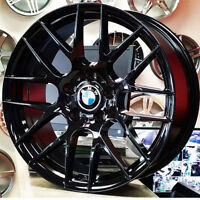 18 inch Gloss Black Rims for BMW (4 New Rims) PH 9056732828