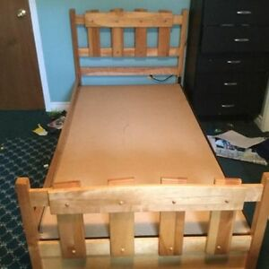 Wooden captains bed!