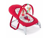 Chicco Hoopla Baby Bouncer - red. Excellent condition, barely used.