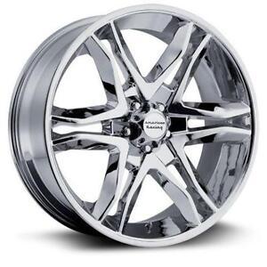 """17"""" american racing chrome wheels ford f150"""