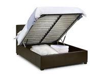 Double Ottoman storage beds - dark brown or white