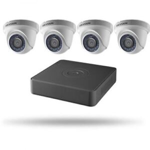 HIKVISION CCTV IPTV 1080P 2MP DOME SECURITY CAMERA KIT 4 CHANNEL