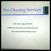Pro-Cleaning Services is now offering residential cleaning..