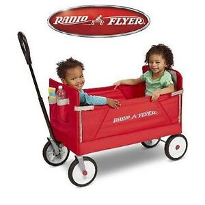 NEW RADIO FLYER WAGON RIDE ON FOLD RED 109626184