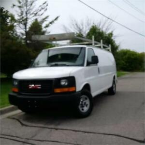 2010 GMC Savana Cargo Van. Ladder racks.Cert. Call 9054322277