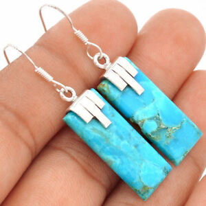 2 rectangular cut and smoothly polished, Blue Arizona Turquoise