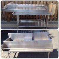 Commercial restaurant stainless sinks $500 each