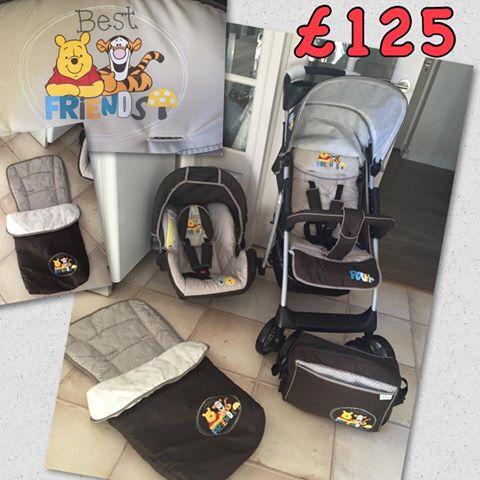 Brand New Hauck Shopper 2 In 1 Travel System Winnie The Pooh Friends Pram Pushchair