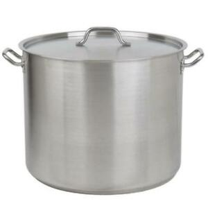 60 Qt. Heavy-Duty Stainless Steel Stock Pot with Cover