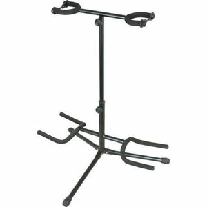 NEUF* DOUBLE GUITAR STAND / TREPIED GUITARE DOUBLE * 14$ !