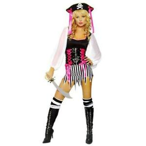 ROMA Swash Buckler B/W Halloween Party Pirate Costume S/M