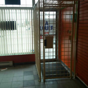 CAGE EN METAL POUR COMMERCE / STEEL CAGE FOR BUSINESS