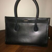 AUTH Lacoste Black Leather Bag