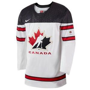 Team Canada IIHF Official 2016-17 White Hockey Jersey (Size Men'