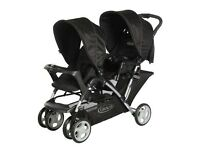 Double pushchair ..Graco Stadium Duo Tandem Pushchair