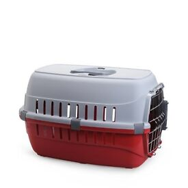 Needs to go! Used once, brand new condition plastic pet carrier, needs to go, collection Warrington.