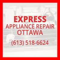 ★Express Appliance Repair in Ottawa ★ at (613) 518-6624