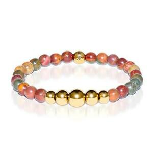 50% OFF All Jewellery - Selfless | Gold Aura Red Picasso Jasper Bracelet