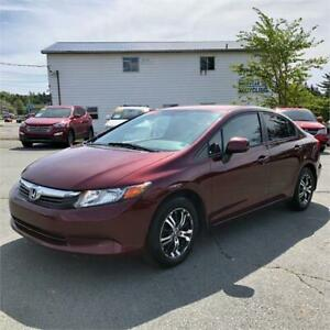 2012 Honda Civic Sdn LX w/bluetooth/alloys/air conditioning