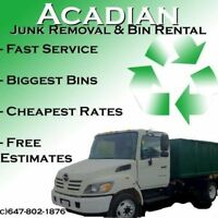 Bin Rental ONLY $99.00!!! Mini bin rental 4 -14 yard !!