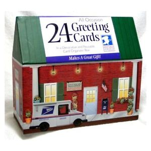 24 Assorted All-occasion Greeting Cards in Storage Organizer Box