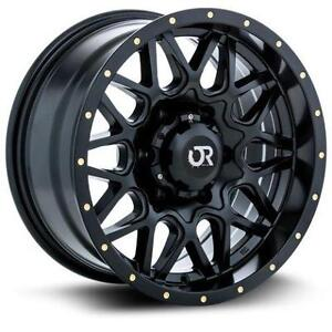 "Roues 20"" Wheels Ford F150 Ram Silverado Sierra RTX Black Wheel"