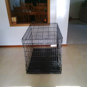 Large metal dog cage