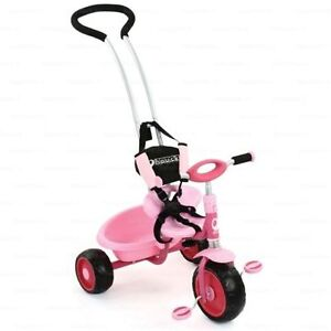 Pink trike with 5 points harness &parents handle