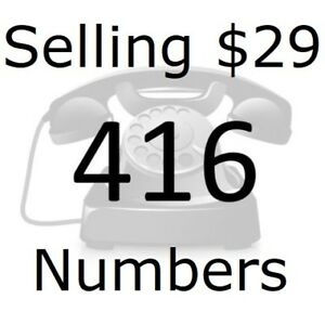 For Sale: From $29 -Easy 416 Area Phone Numbers -VIP,Vanity,Rare