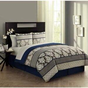 VCNY Beckham King 8-piece Bed in a Bag - Brand New