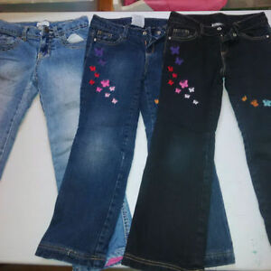 Girls size 6 lined jeans warm Cambridge Kitchener Area image 1