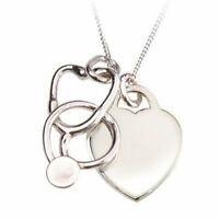 Heart and Stethoscope Necklace for Nurses *SALE*
