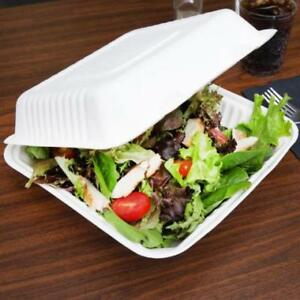Biodegradable, Compostable 1 Compartment Takeout Box - 200/Case .*RESTAURANT EQUIPMENT PARTS SMALLWARES HOODS AND MORE*