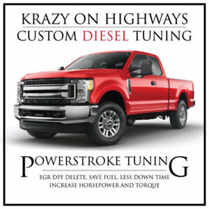 Krazy On Highways custom Powerstroke EGR,DPF & SCR Delete Tuning