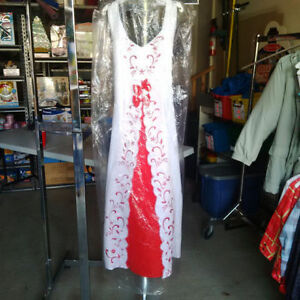 Girls size 12 White and Red Dress
