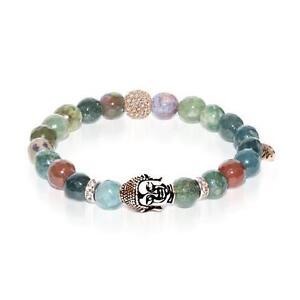 50% OFF All Jewellery - Samsara | Rose Gold Buddha | India Faceted Agate Bracelet