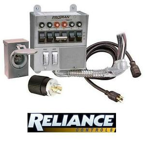 NEW RELIANCE CONTROLS CIRCUIT BOX 6 CIRCUIT 30 AMP GENERATOR TRANSFER SWITCH - BREAKER BOX SWITCHES ELECTRICAL S