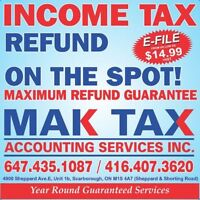 INCOME TAX -From $14.99, Corporate Tax $100, Business $50