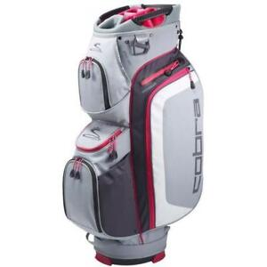 Cobra Women's Max Cart Bags - Grey/Pink
