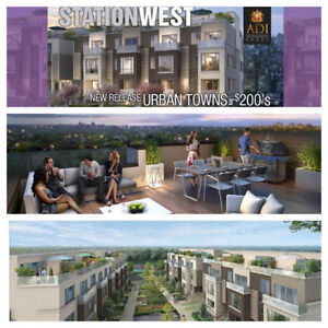 Station West Condo Townhomes, Burlington VIP Sale from Mid $300s