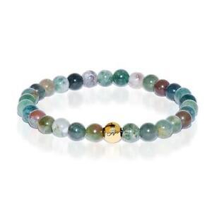 50% OFF All Jewellery - Meditation | Gold Essence Indian Agate Bracelet