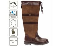 Ladies Cabotswood brown boots, really wide leg