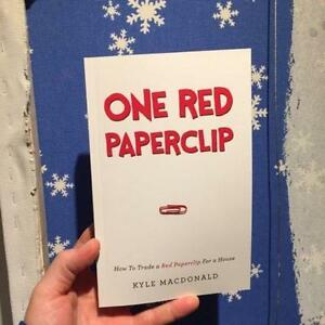 Autographed One Red Paperclip book by Kyle MacDonald !