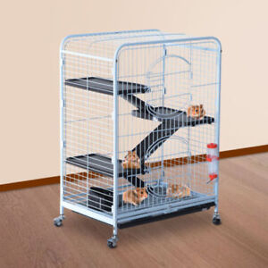 """Pet Cage 36"""" w/ Stairs /Small Cats Hamster Bunnies Steel House"""