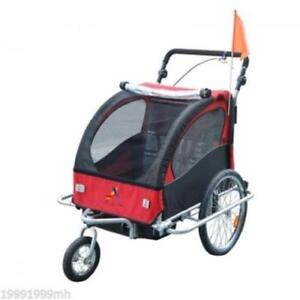 3 in 1 Double baby Stroller jogger/ Double Baby Bike Trailer RED